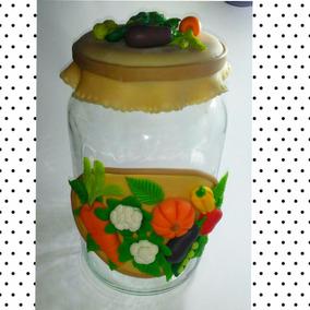 Pote Cozinha Legumes - Pote De Vidro + Biscuit