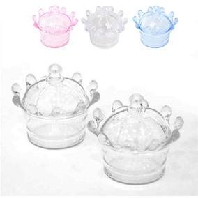 36 Mini Cupula Coroa Acrilica Caixinha Mini Coroa Lembancinh