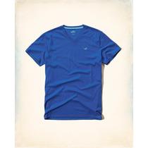 Camiseta Masculina Da Hollister Manga Curta Gola V Tamanho M