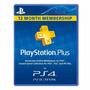 Tarjeta Playstation Psn Plus1 Año Usa- Ps4 Ps3 Ps Vita