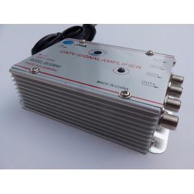 Amplificador De Señal Cable Tv 4 Salidas 30 Db 220v