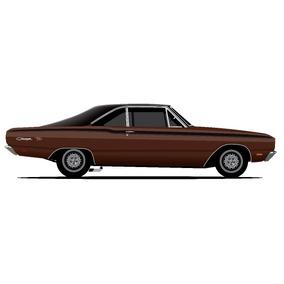 Faixas Adesivas Dodge Charger R/t 1972 - Thd Designs
