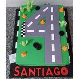 Torta Pista De Autos Con Forma De Número. Zona Sur