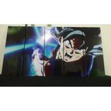 Cuadro Dragon Ball Goku Ultrainstinto 5 Piezas Grande150x80
