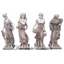Escultura Em Mármore Sobreposto As Quatro Estações