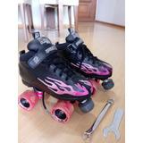 Patins Derby Rock Skates Pink Flame Roller