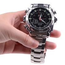 Relógio Espião Silver Prova Dágua Full Hd 16gb Visão Noturna