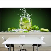 Adesivo Painel Papel Parede Cozinha Bebida Drink Copo Bar 44