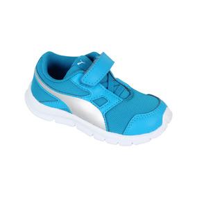 Zapato Puma Casual Flexracer Bebé - Azul / Blanco