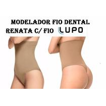 Calcinha Cos Alto Fio Dental Cinta Modeladora Reduz Barriga