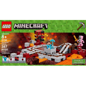 Lego Minecraft The Nether Railway Lego Speed 21130 387 Peças
