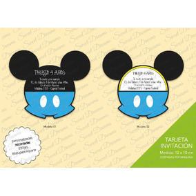 Invitaciones De Mickey Bebé Cortadas / Caladas