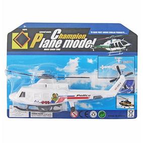 10un Helicoptero Policia A Corda Champion Plane Model
