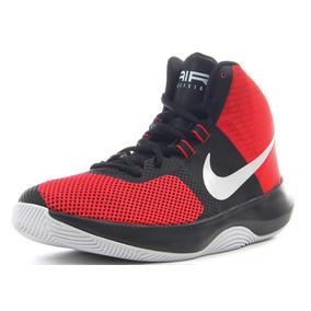 Tenis Basquet Nike Air Caballeros Rojos Negro Bota