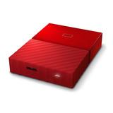 Disco Externo Portatil 1 Tb Wd My Passport Rojo Usb 3.0