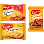 Kit Biscoito Bauducco Sache Choco+maize+cream Cracker 80un