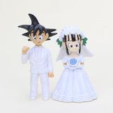 Dragon Ball Z Goku Novio Milk Novia Chi Chi Matrimonio Boda