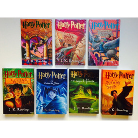 Coleção Livros Harry Potter (1 Ao 7) Capa Com Letra Prateada