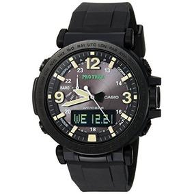 Casio Mens Pro Trek Quartz Resin And Silicone Casual Watch,