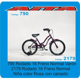 Bicicleta Aita Rodado 16 Con Rueditas