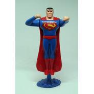 Mueve Brazos Con Pedestal  Superman Plastico 15 Cms Figura