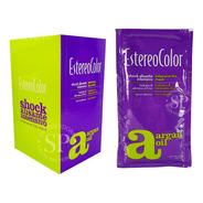 Estereo Color Shock Alisante Intensivo Con Argán. Caja X 10