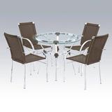 Jogo De Mesa 4 Cadeiras Cravo Alumínio E Fibra Sintética