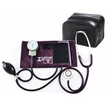Kit Esfigmomanômetro + Estetoscopio Duplo Bordo Roxo Pa Med