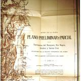 Mapa Antiguo Perito Moreno Viaje Patagonia 1897 Cordillera