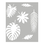 Las Lupes - Stencil Mix De Hojas Tropicales - 24 X 30cm