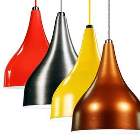 Kit 3 Lustre Pendente Luminária Gota Unik Design Mini E27