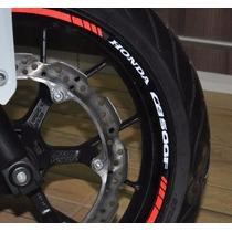Friso Refletivo Adesivo Roda Moto Honda Cb 500 F M3 Completo
