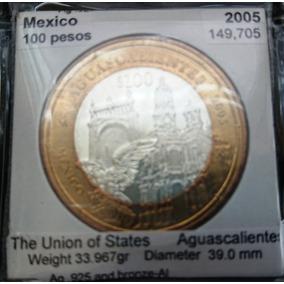 Moneda De $100 Motivos Regionales De Los Estados De Méx