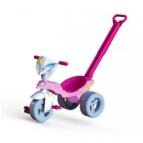 Triciclo Motoquinha Pepita Com Empurrador - 7355 Xalingo