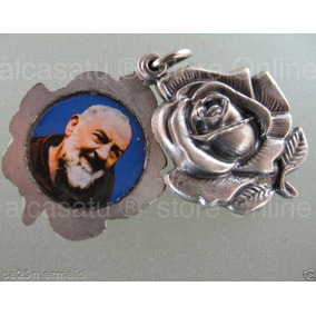 10 Rosas Santo Padre Pio Medallas Dije 35mm Souvenir