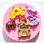 Molde Silicone Cinderela Carruagem Sapatinho Bolo Cupcake