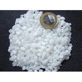 Pedrinhas De Quartzo Branco Leitoso Rolado Peq 1/2kg Aquário