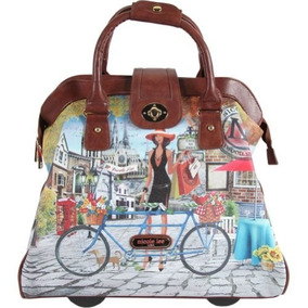 Set Equipaje Nicole Lee Cheri Rolling Business Tote [americ