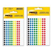 2 Etiqueta Adesiva P/ Codificação 6mm Coloridas Pt 715 Un