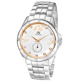 fb1e9ccc600 Relógio Ana Hickmann Preto E Prata Ah28133t - Relógios no Mercado ...