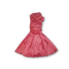 Vestido De Fiesta Color Coral Talla 34 Mod. Cola De Sirena