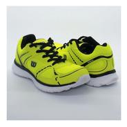 Tenis Wilson Color Amarillo Y Gris