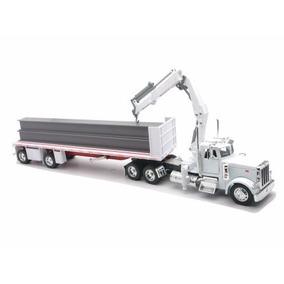 Caminhão Peterbilt 379 Prancha C/ Vigas Construção 1/32