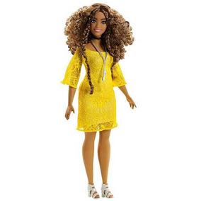Barbie Fashionista Curvy Morena 85 + Acessórios Mattel