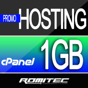 Web Hosting Hospedaje Cpanel 1 Gb + Dominio .ve Mensual