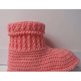 Botas Pantuflas Estilo Escarpin A Crochet