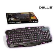 Teclado Gaming K43 Pro Luz Led Dblue - Audiomobile