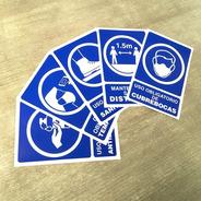 Kit- Paquete Señalamientos Contingencia Sanitaria Adhesivos