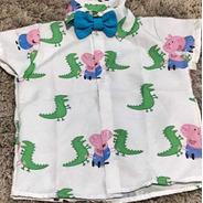 Camisa Jorge Peppa, Peppa Pig Masculina Temática