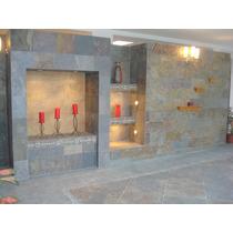 Piedra Ardosia Oxido Natural 30 X Largo Libre Ext / Interior